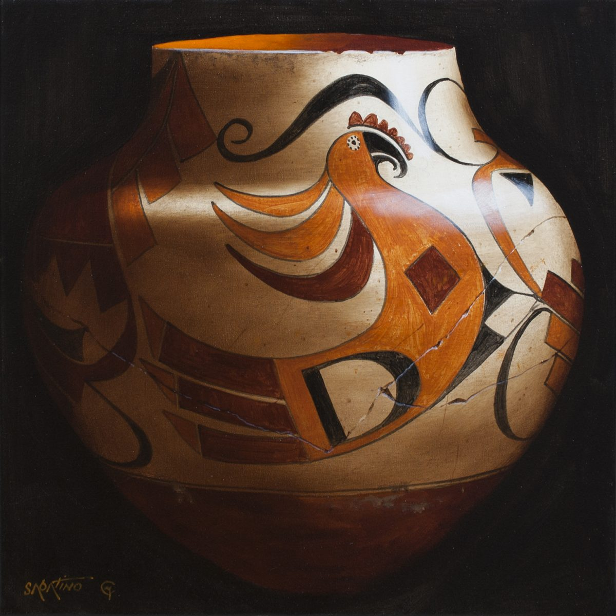 Chuck Sabatino Background 1885 acoma polychrome